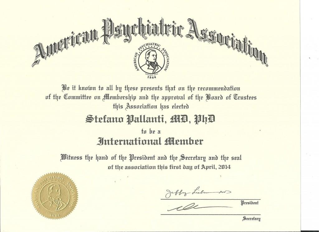 American Psychiatric Society Membership