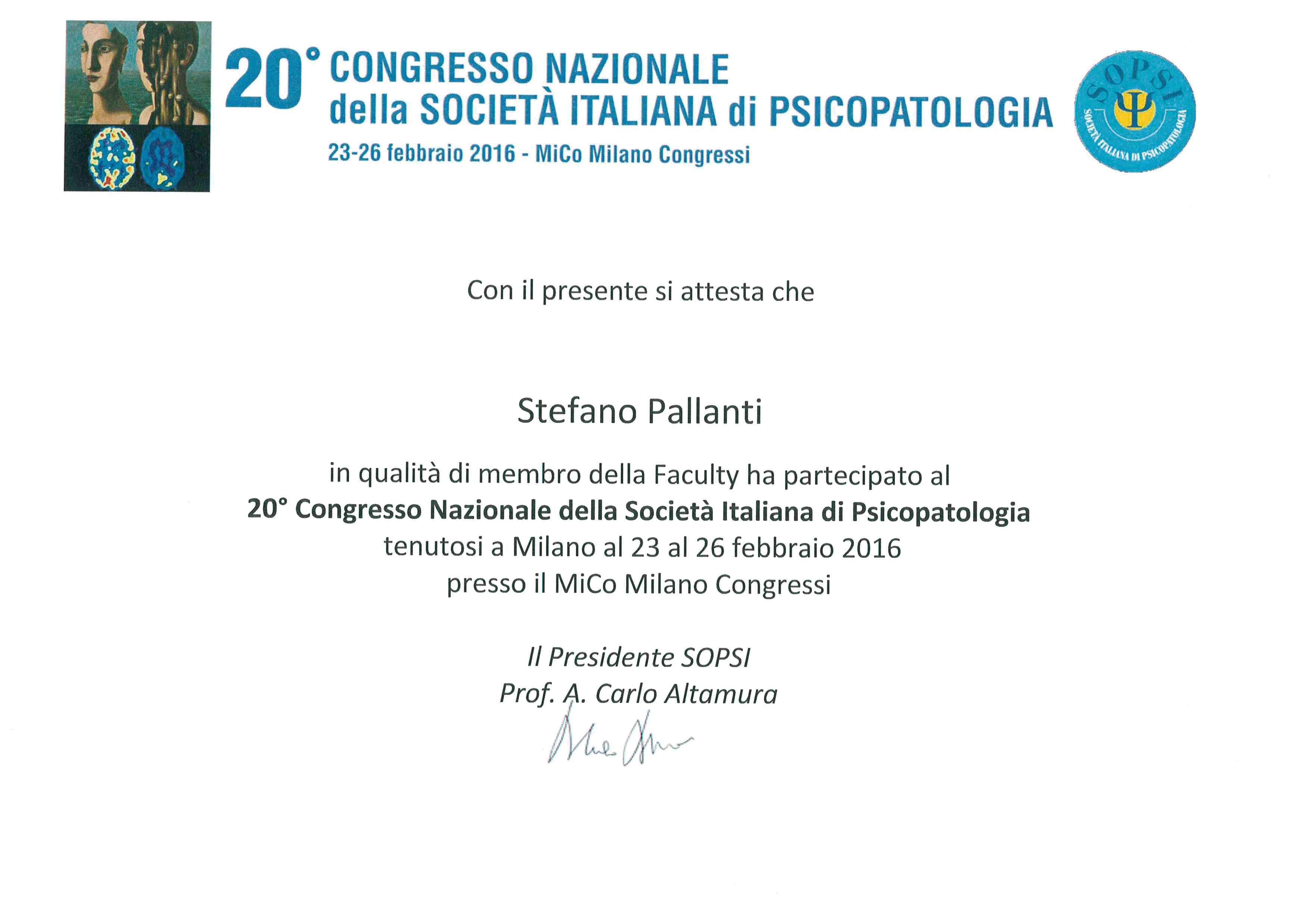 fe9fb0d6a9 Prof. Stefano Pallanti Precision Psychiatry and Cutting-edge therapy