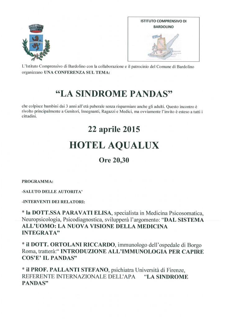 """Conferenza """" La Sindrome PANDAS"""" - 22 aprile 2015"""