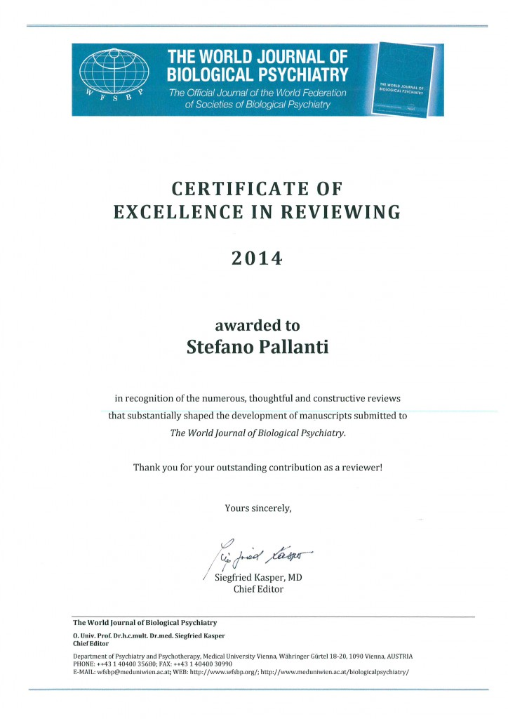 Certificate of Excellence in Reviewing